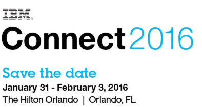 IBM Connect2016 Save the date