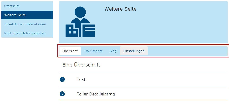 Navigationsleiste als Komponente in einer Web-Anwendung 2