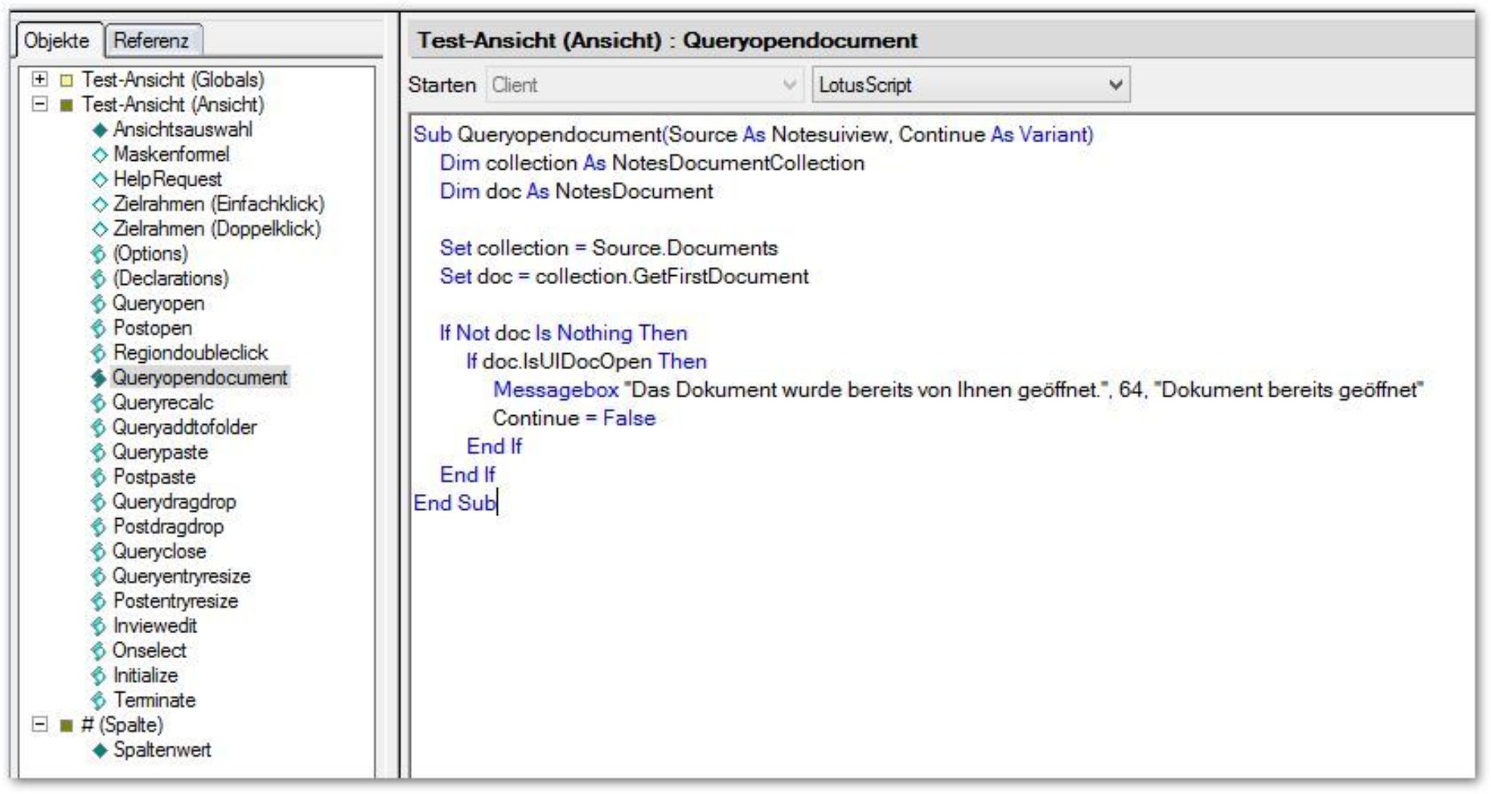 Doppeltes Öffnen von Dokumenten verhinden, um Replikationsfehler zu vermeiden