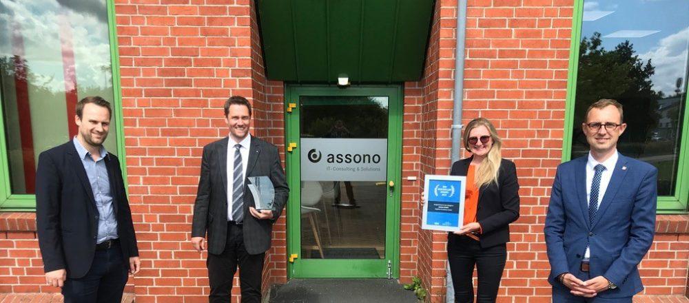 KI-Lösungen made in Schleswig-Holstein: Staatssekretär Dirk Schrödter zu Besuch bei assono