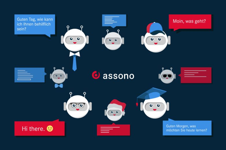 assono AI-Chatbot: Avatar and communication style: We create chatbots your customers will enjoy interacting with