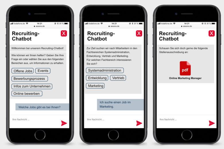 assono Chatbot für Recruiting: Schnell und einfach Informationen zum Thema Bewerbungen erhalten