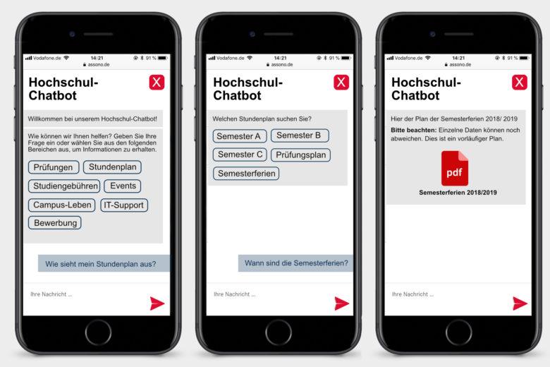 assono Chatbot für Hochschulen und Universitäten: Schnell und einfach die gesuchten Informationen zur Hochschule und zum Studium erhalten