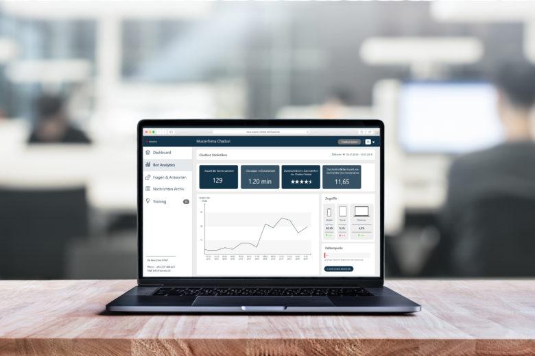assono Chatbot für interne Prozesse: Alles im Blick mit den Analysedaten des Dashboards