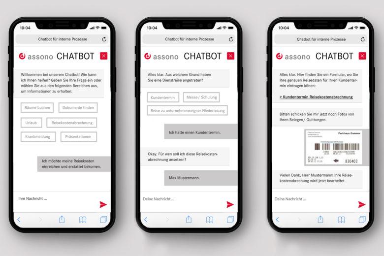 assono Chatbot für interne Prozesse: Anwendungsbereiche von Chatbots für die interne Kommunikation