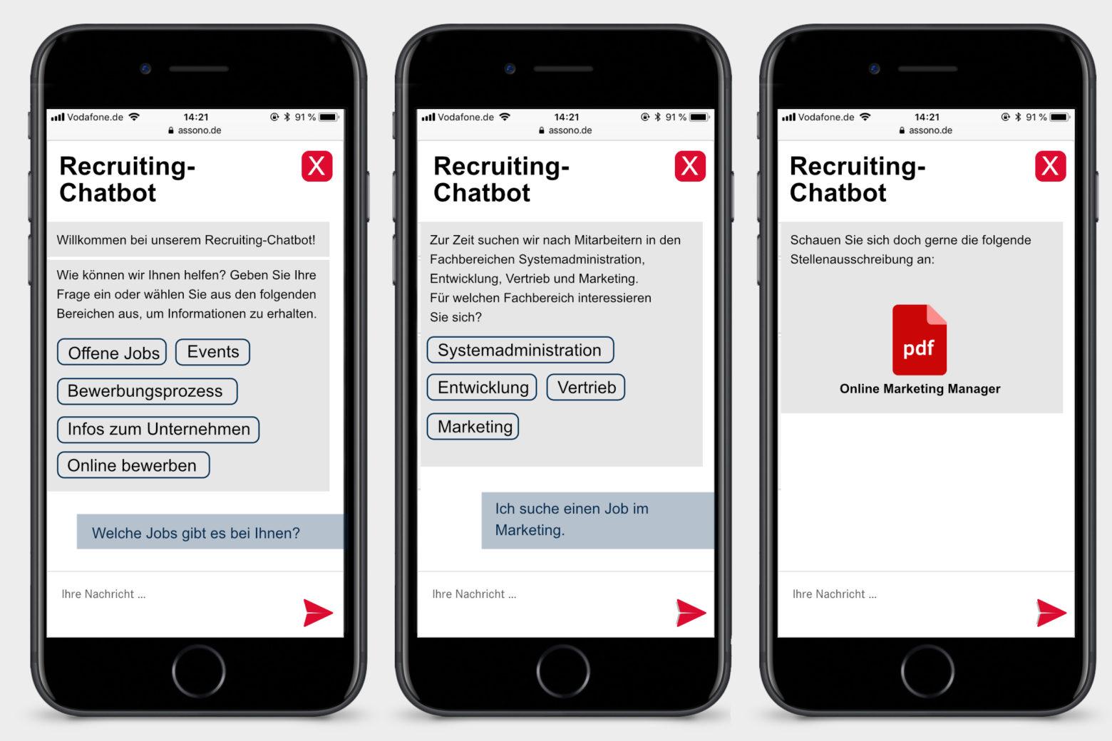 assono Chatbot im Recruiting: Schnell und einfach Informationen zum Thema Bewerbungen erhalten