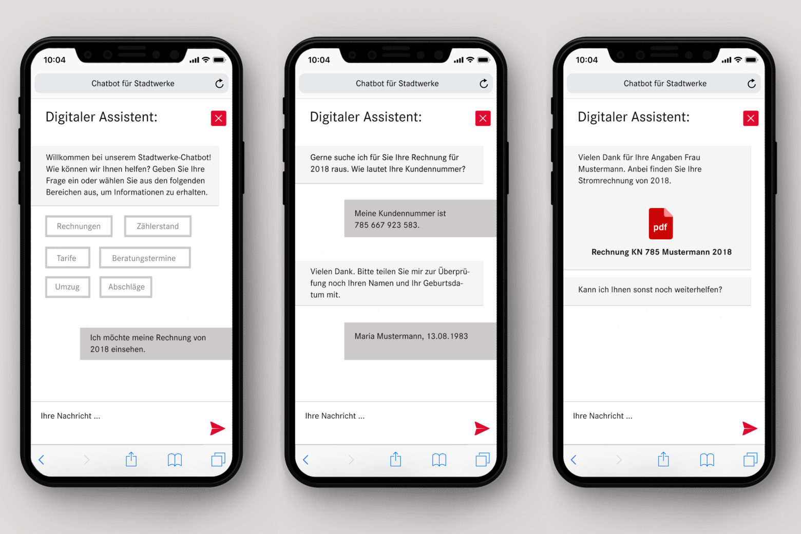 assono Chatbot für Stadtwerke und Versorgungsunternehmen: Schnell, einfach und sicher Informationen via Chatbot von einem Stadtwerk erhalten