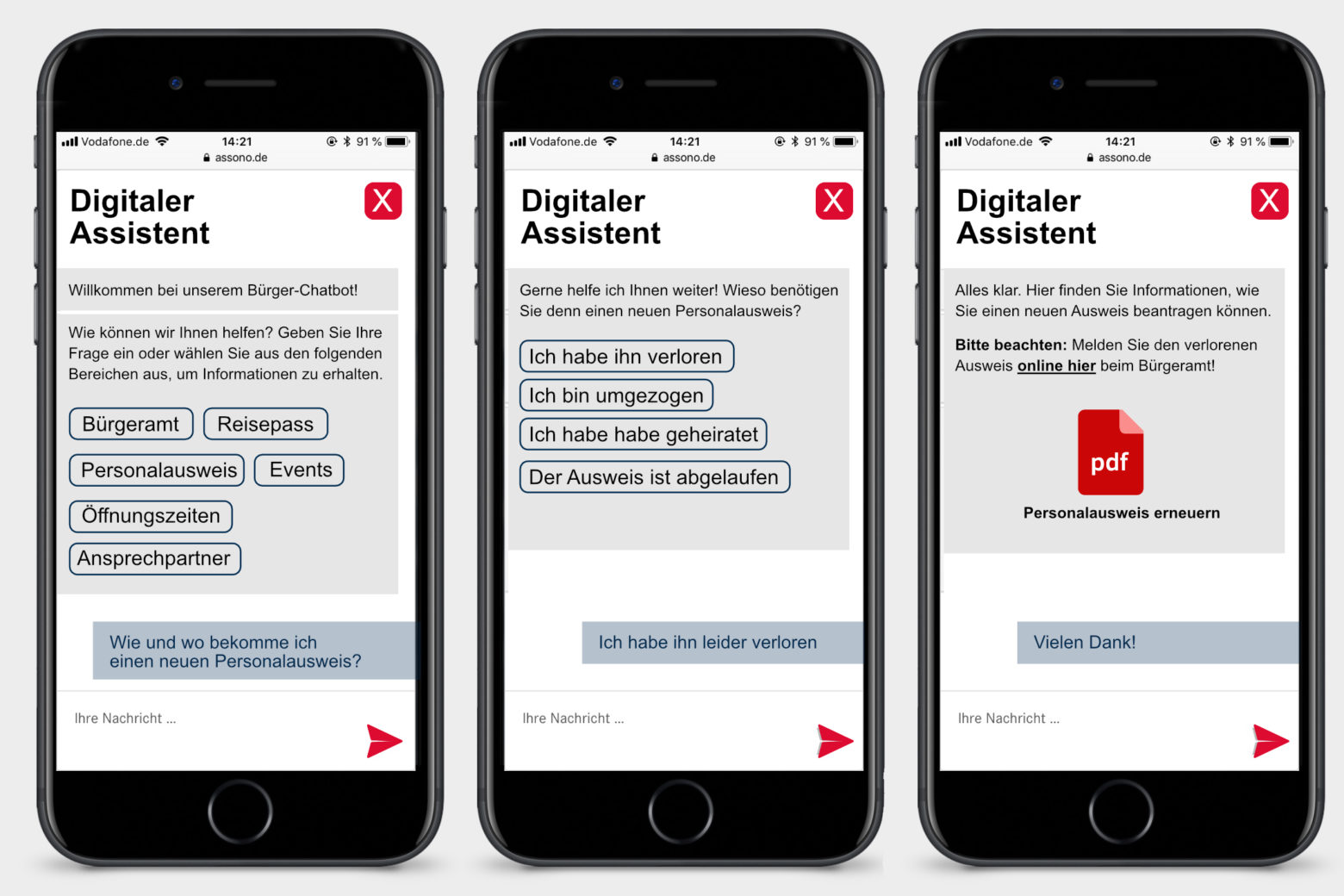 assono Chatbot für öffentliche Einrichtungen: Schnell und einfach Informationen via Chatbot von einer öffentlichen Einrichtung erhalten